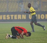 Photo: Steve Bond/Richard Lane Photography.<br />Egypt v Sudan. Africa Cup of Nations. 26/01/2008. Hosny Abd-Rabou celebrates Egypts' opener