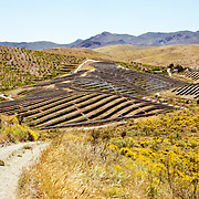 The Lucainena de las Torres Photovoltaic Power Station in Almeria, Spain. It was built in 2008 and has a total capacity of 23.2MWp.