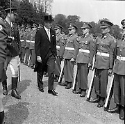 17/05/1961<br /> 05/17/1961<br /> 17 May 1961<br /> New U.S. Ambassador Edward Grant Stockdale presents his credentials at Aras an Uachtarain. Picture shows  Ambassador Stockdale reviewing the Guard of Honour outside the Aras.