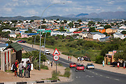 A section of the Katutura suburb in Windhoek, Namibia, near the rented house of Mestilde Shigwedha, a diamond polisher for NamCot Diamonds.