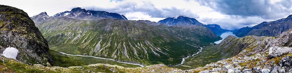 Norway, Jotunheimen. Memurudalen at the northern side of the Gjende Lake.