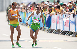 Blind Sandi Novak of Slovenia with guide Roman Kejzar tired at finish line of the Men's Marathon - T12 Final during Day 11 of the Rio 2016 Summer Paralympics Games on September 18, 2016 in Copacabana beach, Rio de Janeiro, Brazil. Photo by Vid Ponikvar / Sportida