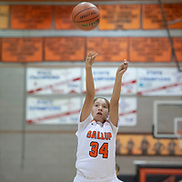 Jordan Joe (34) of Gallup shoots the one of two free throws in the game against St. Pius X in Gallup on Wednesday. St. Pius won 53-43.
