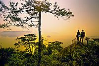View of Inland Sea from Mt. Misen, Miyajima (Shrine Island), near Hiroshima, Japan