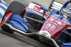 June 1, 2018 - Detroit, Michigan, United States of America - TONY KANAAN (14) of Brazil takes to the track for a practice session for the Detroit Grand Prix at Belle Isle Street Course in Detroit, Michigan. (Credit Image: © Stephen A. Arce/ASP via ZUMA Wire)