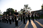 The Oregon Marching Band competes at Summerfest in Oregon, Wisconsin on June 27, 2010.