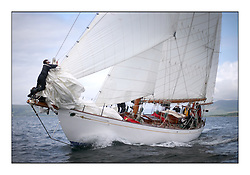 The final day of racing of the Fife Regatta on the King's Course North of Great Cumbrae<br /> <br /> Latifa, 8, Mario Pirri, ITA, Bermudan Yawl, Wm Fife 3rd, 1936<br /> <br /> * The William Fife designed Yachts return to the birthplace of these historic yachts, the Scotland's pre-eminent yacht designer and builder for the 4th Fife Regatta on the Clyde 28th June–5th July 2013<br /> <br /> More information is available on the website: www.fiferegatta.com