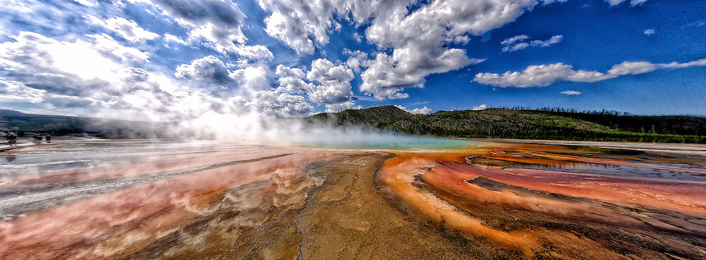 Grand Prismatic Spring in Midway Geyser Basin Yellowstone National Park