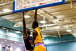 Daniel Edozie of Bristol Flyers shoots - Photo mandatory by-line: Robbie Stephenson/JMP - 10/04/2019 - BASKETBALL - UEL Sports Dock - London, England - London Lions v Bristol Flyers - British Basketball League Championship