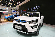 BEIJING, CHINA - APRIL 25: (CHINA OUT) <br /> <br />  A BAIC Motor EX200 autonomous sports utility vehicle (SUV) is on display at the Beijing International Automotive Exhibition on April 25, 2016 in Beijing, China.<br /> ©Exclusivepix Media