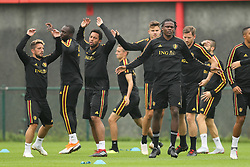 September 5, 2018 - Tubize, BELGIUM - Belgium's Dries Mertens, Belgium's Romelu Lukaku, Belgium's Mousa Dembele and Belgium's Dedryck Boyata pictured during a training session of Belgian national soccer team the Red Devils in Tubize, Wednesday 05 September 2018. The team is preparing for a friendly match against Scotland on 07 September and the UEFA Nations League match against Iceland on 11 September. BELGA PHOTO BRUNO FAHY (Credit Image: © Bruno Fahy/Belga via ZUMA Press)