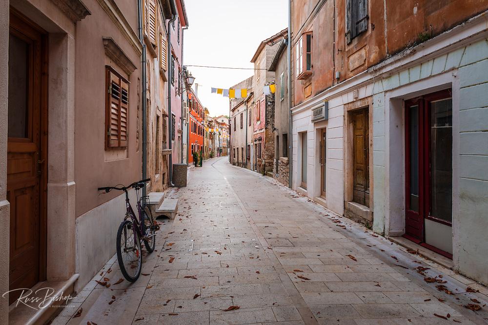 Street and bicycle, Skradin, Dalmatia, Croatia