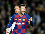 Leo Messi of FC Barcelona celebrates scoring a goal during the sixteen round match of the La Liga 2019-2020 season between FC BARCELONA and RCD MALLORCA at CAMP NOU STADIUM in Barcelona, Spain.December 7, 2019