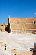 The amphitheater, on the city's southern shore Caesarea, Israel