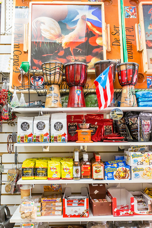 San Germán Records in Bushwick, a spcialty store for goods from and relating to Puerto Rico.