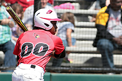 19 April 2014:  Nichelle Harrison during an NCAA women's softball game between the Evansville Purple Aces and the Illinois State Redbirds on Marian Kneer Field in Normal IL