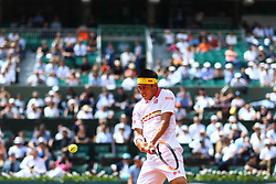 May 30, 2018 - Paris, U.S. - PARIS, FRANCE - MAY 30: KEI NISHIKORI (JPN) during day four match of the 2018 French Open 2018 on May 30, 2018, at Stade Roland-Garros in Paris, France. (Photo by Chaz Niell/Icon Sportswire) (Credit Image: © Chaz Niell/Icon SMI via ZUMA Press)