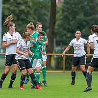 02.08.2020, wohninvest Weserstadion Platz 12, Bremen, GER,FSP, FLYERALARM, FFBL SV Werder Bremen vs  SV Henstedt-Ulzburg, <br /> <br /> <br /> <br />  im Bild<br /> <br /> Jasmin Sehan (WerderBremen15)<br /> Jana Radosavljevic (WerderBremen3)<br /> Verena Volkmer (WerderBremen10)<br /> <br /> Foto © nordphoto / Kokenge