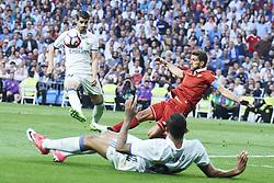 May 14, 2017 - Madrid, Madrid, Spain - Alvaro Morata (forward; Real Madrid) in action during La Liga match between Real Madrid and Sevilla at Santiago Bernabeu on May 14, 2017 in Madrid (Credit Image: © Jack Abuin via ZUMA Wire)