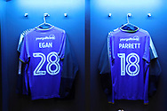 AFC Wimbledon midfielder Alfie Eagan (28) and AFC Wimbledon midfielder Dean Parrett (18) shirts during the The FA Cup 3rd round match between Tottenham Hotspur and AFC Wimbledon at Wembley Stadium, London, England on 7 January 2018. Photo by Matthew Redman.