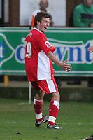 Photo: Pete Lorence.<br />Boston United v Swindon Town. Coca Cola League 2. 20/01/2007.<br />Michael Pook celebrates his goal.