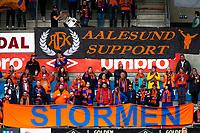 1. divisjon fotball 2018: Aalesund - Mjøndalen. Aalesunds supportere i førstedivisjonskampen i fotball mellom Aalesund og Mjøndalen på Color Line Stadion.