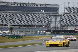 January 26, 2019 - Daytona, FL, U.S. - DAYTONA, FL - JANUARY 26: The #4 Corvette Racing Corvette C7.R of Oliver Gavin, Tommy Milner, and Marcel Fassier during the Rolex 24 at Daytona on January 26, 2019 at Daytona International Speedway in Daytona Beach, Fl. (Photo by David Rosenblum/Icon Sportswire) (Credit Image: © David Rosenblum/Icon SMI via ZUMA Press)
