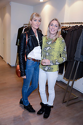 Left to right, LADY EMILY HORNER and CAMILLA STOPFORD-SACKVILLE at a preview evening of the Leon Max Autumn Winter Collection 2013 held at Leon Max, 229 Westbourne Grove, London W11 on 24th September 2013.
