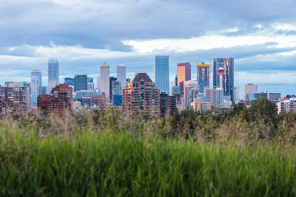 The Calgary skyline from the South near Stanley Park