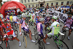 Cyclists just before the start in last 4th stage of the 15th Tour de Slovenie from Celje to Novo mesto (157 km), on June 14,2008, Slovenia. (Photo by Vid Ponikvar / Sportal Images)/ Sportida)