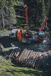 THEMENBILD - Holzbringung mit Seilkran in einem Wald auf der Schmitten, aufgenommen am 30. Juli 2020 in Zell am See, Österreich // Timber transport with cable crane in a forest on the Schmitten, Zell am See, Austria on 2020/07/30. EXPA Pictures © 2020, PhotoCredit: EXPA/ JFK