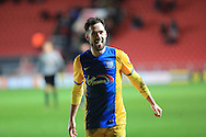 Greg Cunningham final whistle celebration during the Sky Bet Championship match between Bristol City and Preston North End at Ashton Gate, Bristol, England on 12 January 2016. Photo by Daniel Youngs.