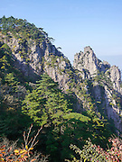 Huangshan (Yellow Mountain) Anhui, China. Granite cliffs