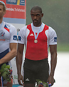Amsterdam. NETHERLANDS.  CUB M1X, Angel FOURIER-RODRIGGUEZ, Bronze Medalist Men's Single Scull. De Bosbaan Rowing Course, venue for the 2014 FISA  World Rowing. Championships. 14:33:38  Sunday  31/08/2014.  [Mandatory Credit; Peter Spurrier/Intersport-images]