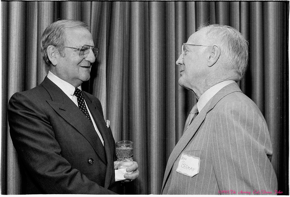 Lee Iacocca was honored at Muhlenberg College on May 24, 1985. Iacocca died July 2, 2019.<br /> - Photography by Donna Fisher/The Morning Call<br /> - Donna Fisher Photography, LLC                      - donnafisherphoto.com