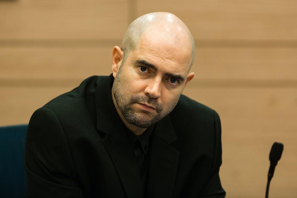 Israeli lawmaker, Member of the Knesset Amir Ohana at the Knesset, Israel's parliament in Jerusalem, on December 27, 2016.