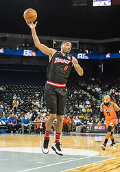 July 6, 2018 - Oakland, CA, U.S. - OAKLAND, CA - JULY 06:James White (8) of Trilogy passes the ball during game 1 in week three of the BIG3 3-on-3 basketball league on Friday, July 6, 2018 at the Oracle Arena in Oakland, CA  (Photo by Douglas Stringer/Icon Sportswire) (Credit Image: © Douglas Stringer/Icon SMI via ZUMA Press)