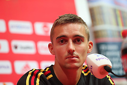September 5, 2018 - Tubize, BELGIUM - Belgium's Timothy Castagne pictured at a press conference of Belgian national soccer team the Red Devils in Tubize, Wednesday 05 September 2018. The team is preparing for a friendly match against Scotland on 07 September and the UEFA Nations League match against Iceland on 11 September...BELGA PHOTO BRUNO FAHY (Credit Image: © Bruno Fahy/Belga via ZUMA Press)