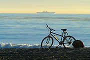 Bicycle Parked On The Beach In San Clemente
