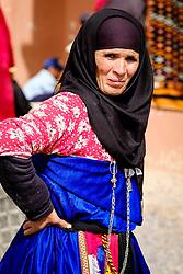 A Berber woman at the carpet market in in Tazenakht, southern Morocco, Africa<br /> <br /> (c) Andrew Wilson | Edinburgh Elite media