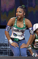 Christine Milian performing at the United We Stand: What More Can I Give?  benefit concert at RFK Stadium in Washington, DC.  October 21, 2001 (Photo by Jeff Snyde)