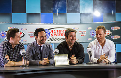 Fontana, CA/USA (Sunday, March 24, 2013) -  Verve Music recording artist  'The Tenors' (Remigio Pereira, Clifton Murray, Victor Micallef and Fraser Walters), during a press conference priot to performing the National Anthem at the Auto Club 400 Sprint Cup Series race at Auto Club Speedway. PHOTO © Eduardo E. Silva/SILVEX.PHOTOSHELTER.COM.