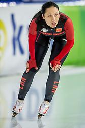 11-12-2016 NED: ISU World Cup Speed Skating, Heerenveen<br /> Hong Zhang CHN op de 1000 m