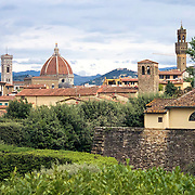 The Boboli Garden, a park behind the Pitti Palace, provides for beautiful strolling through Renaissance gardens filled with statuary and with views of Florence.
