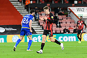 David Brooks (7) of AFC Bournemouth reacts after missing a shot at goal during the EFL Sky Bet Championship match between Bournemouth and Nottingham Forest at the Vitality Stadium, Bournemouth, England on 24 November 2020.