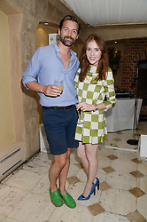 PATRICK GRANT and ANGELA SCANLON at an evening of Dinner & Dancing at Daphne's, 112 Draycott Avenue, London SW3 on 24th July 2013.