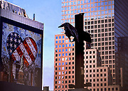 World Trade Center, the commemorative cross for the September 11th 2001 attack, where about 5,000 people lost their lives.<br /> New York, August 2003<br /> <br /> <br /> Photo Antonietta Baldassarre