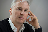 21 MAY 2012, BERLIN/GERMANY:<br /> Christophe F. Maire, Gruender / CEO txtr, Inhaber atlantic ventures, Investor und  Business Angel, waehrend einem Interview, txtr GmbH, Rosenthaler Str., Berlin-Mitte<br /> IMAGE: 20120521-02-034<br /> KEYWORDS: Christophe Maire