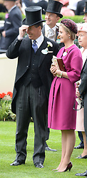 VISCOUNT & VISCOUNTESS LINLEY at Day 1 of the 2013 Royal Ascot Racing Festival at Ascot Racecourse, Ascot, Berkshire on 18th June 2013.