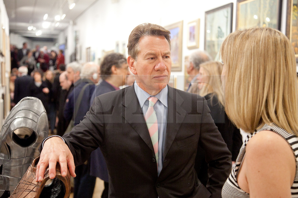 © London News Pictures. 28/02/2012. Rt. Hon. Michael Portillo MP opens the the private view of the 295th Exhibition of The Royal Society of British Artists at the Mall Galleries, London, UK. Picture credit should read Manu Palomeque/LNP